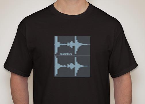 boomchick wave logo tshirt